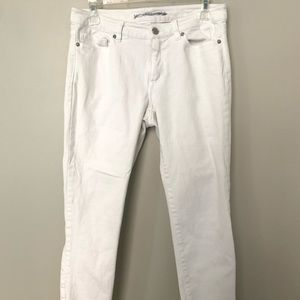 Michael Kors White Cropped Skinny Jeans Size 4